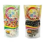 Wufuyuan Tapioca Pearl (paquete de 2) – Negro y color 500 g...