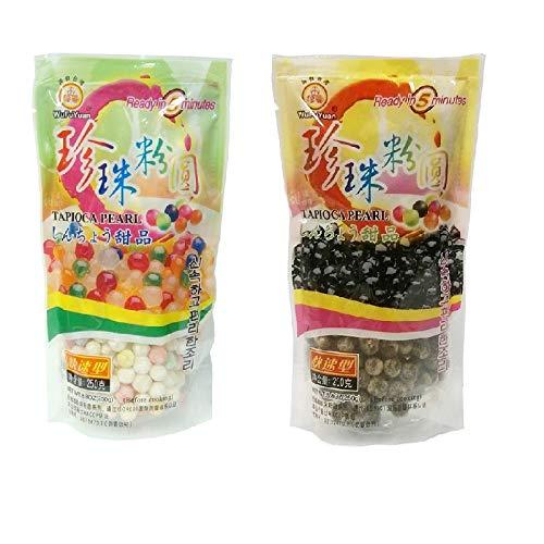 Wufuyuan Tapioca Pearl (paquete de 2) – Negro y color 500 g