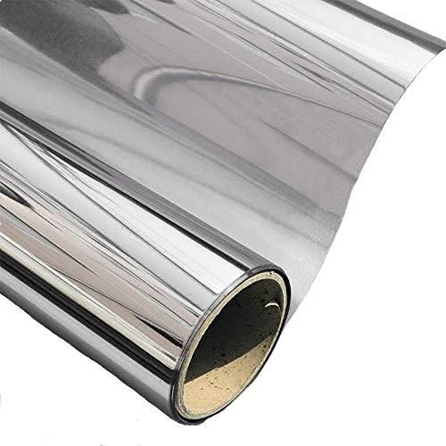 AOJIA Silver Reflective Window Film One Way Mirror Window Film Solar Control Window Film Heat Control...
