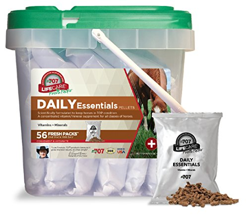 Horse | Formula 707 Daily Essentials Equine Supplement, Daily Fresh Packs, 56 Day Supply – Complete Vitamins and Minerals for Superior Health and Condition in Horses, Gym exercise ab workouts - shap2.com