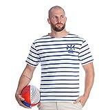 Ruckfield - T-Shirt marinière Blanc Rugby - Blanc