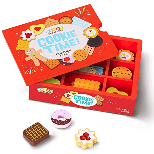 woody treasures Wooden Toys For Kids - Wooden Toys Box of Cookies –...