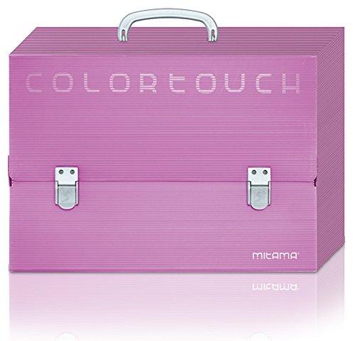 Mitama 41201- Valigetta potadocumenti a doppia chiusura, in polionda, Colori assortiti, 38 x 27 x 5 cm