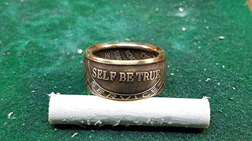 Recovery AA Coin Ring, Sobriety, Serenity Prayer, Be True To Self