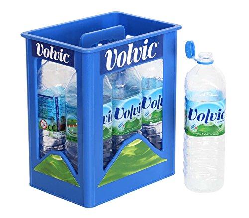 Polly Kaufladen Zubehör Set Volvic Getränkekiste Naturell Miniaturen | Kinder Spielzeug für den Kaufmannsladen | Kinderkaufladen