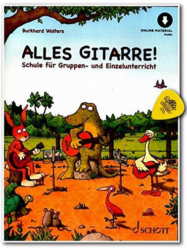 Alles Gitarre! -Gitarrenschule von Burkhard Wolters für Gruppen- und Einzelunterricht mit Online-Audiodatei und Dunlop Plek/Schott Music ED21710D 9783795798956