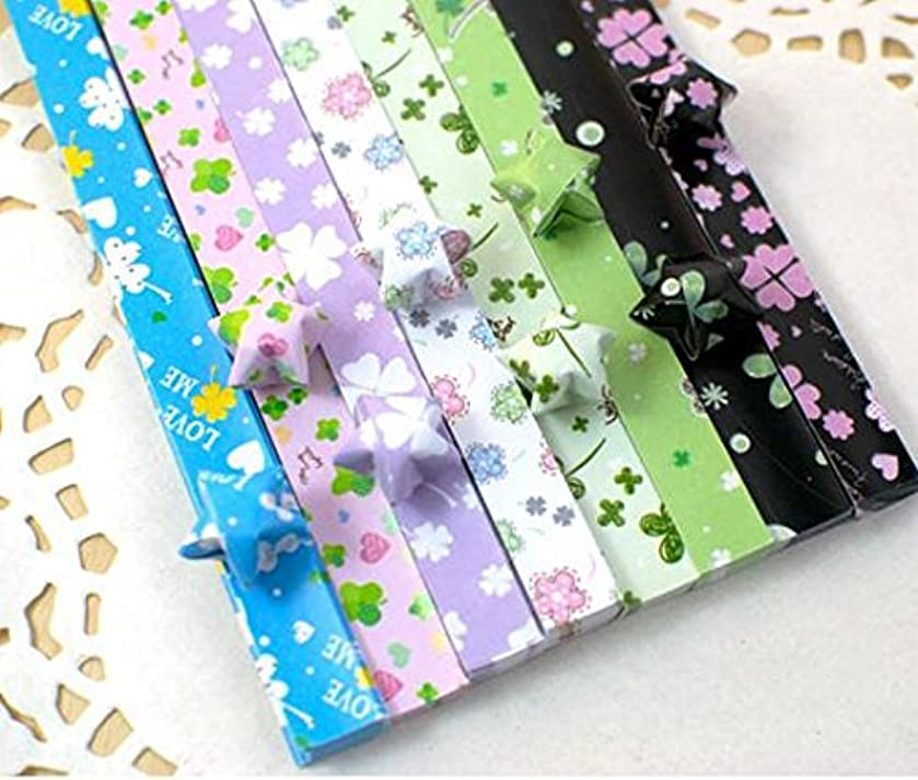 Maggicoo 400 Sheets Lovely Cute Star Folding Paper Lucky Wish Star Origami Paper (1)