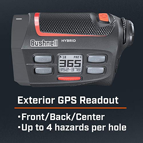 Bushnell Hybrid Golf Laser/GPS Rangefinder with PlayBetter Pitchfix Divot Tool & Bushnell Magnetic Ball Marker | Pinseeker w/Jolt, 1000 Yards, 5X Mag, Case | Bundle, 201835