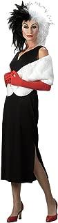 Womens Disney Cruella Devil Theme Party Fancy Dress Halloween Costume