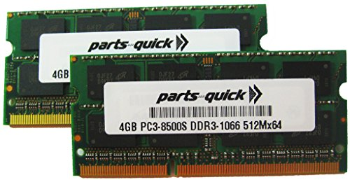 8GB Kit 2X 4GB Memory for ASUS P7 Motherboard P7P55D-E LX DDR3-8500 Non ECC DIMM RAM (PARTS-QUICK Brand)