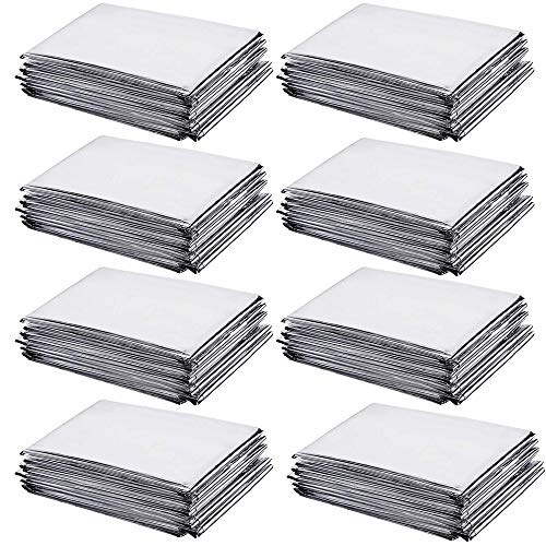XIPEGPA 8 Pcs High Silver Reflective Mylar Film 83 x 51 Inch Garden Greenhouse Covering Foil Sheets Effectively Increase Plants Growth