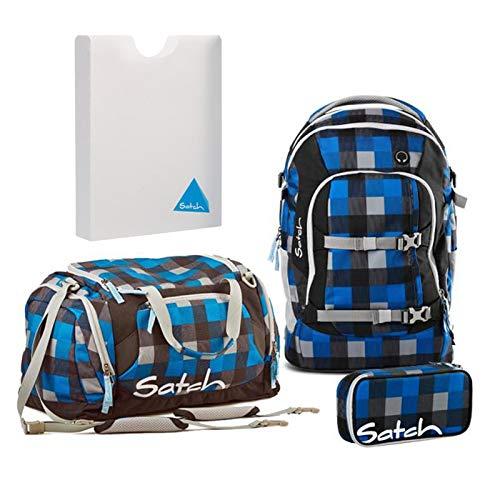 Satch Schulrucksack-Set 4-TLG Pack Airtwist Blau