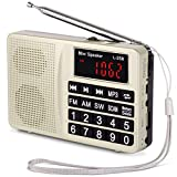 Radio L-258SW PRUNUS Portable SW/FM/AM(MW)/SD/TF/USB(0-64 GB) MP3. Large Bouton et Affichage. Enregistre Les Stations manuellement...
