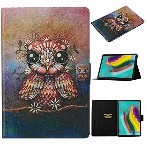 Funda para Kindle Fire HD 10 2015/2017/2019 – [Protección de esquina] Premium Vegano Cuero Folio Cover Cover Stand Cover Cover Auto Wake/Sleep para Kindle Fire HD 10 2015/2017/2019 Owl