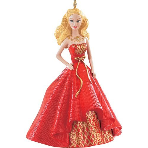 Price comparison product image 2014 Holiday Barbie Christmas Ornament (Blonde) from the American Greetings Heirloom Ornament Collection! Caucasian / White Version.