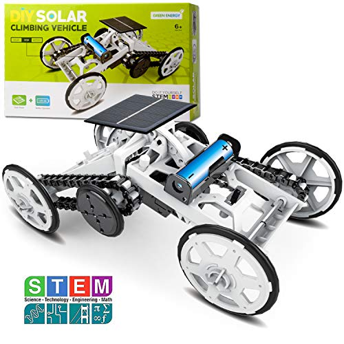 Sillbird STEM 4WD Car DIY Climbing Vehicle Kit Electric Mechanical / Solar...