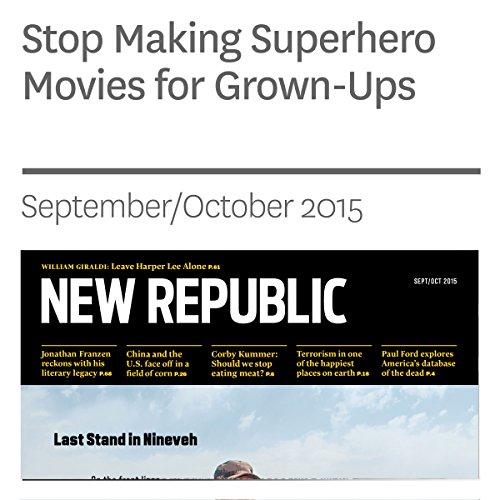 Stop Making Superhero Movies for Grown-ups audiobook cover art