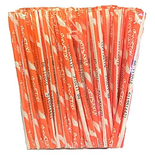 "Pixy Stix Candy Powder 6"" Straws - 100 Piece Package (Half Pound!) (Outrageous Orange)"