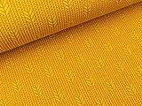 Albstoffe Hamburger Liebe Plain Stitches Up Knit senf-Nepal