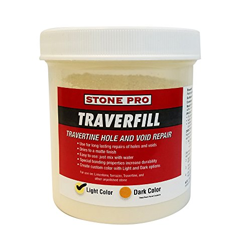 Stone Pro Traverfill - Travertine Hole and Void Repair - 1 Pound - Light