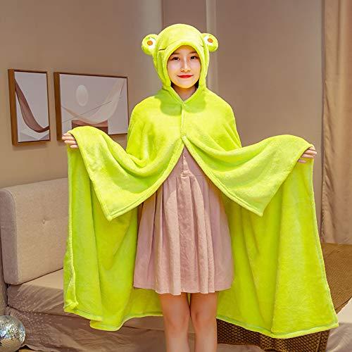 HUIJ Frauen Mädchen Cape,Flanell Umhang,Anime wirft Decken,Kostüm Kapuze Robe Cape,Super Soft Cosy Cape,im Büro verwendet,Studenten Nap,Fernsehen