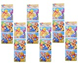 Puzzle Pack Winnie d Pooh Cartoon Character Design with Coloring Space on Back Side for KDs Girls Brthday Return Gifts Theme Party (Set of 12)