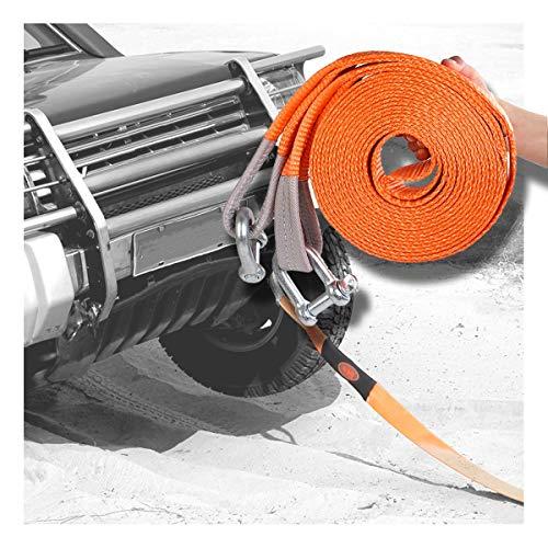 6 Meter 15 Tonnen Auto Abschleppseil Heavy Duty Road Recovery Abschleppgurt Mit 2 Stahlhaken High Strength Abschleppseil f/ür PKW//LKW Off Road Recovery