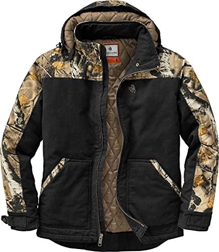 Legendary Whitetails Men's Standard Canvas Cross Trail Workwear Jacket, Black, Medium