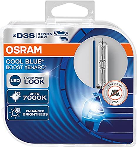 OSRAM XENARC Cool Blue Boost D3S, HID headlamp, 66340CBB-HCB, hyper blue...