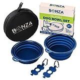 Bonza grands bols pour chien pliable, double Pak, 17,8 cm Diamètre, portable, d'eau Bols pour chien...