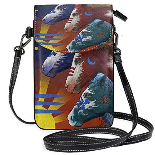 XCNGG Kleine Geldbörse Lakota Cell Phone Purse Wallet for Women Girl Small Crossbody Purse Bags