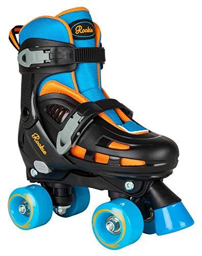Rookie Adjustable Skate Duo Junior SML 8-11 Inlineskates Unisex Kinder Mehrfarbig (blau/orange), jnr