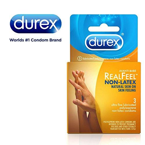 Durex Avanti Bare RealFeel Non-Latex Condom, 3 Count (Pack of 6)