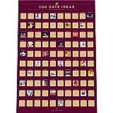 100 Dates Scratch Off Poster - Couple's Bucket List -
