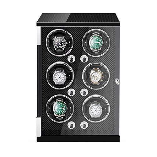 Caja Enrolladora Automática 6 Luz LED Incorporada Almohadas Reloj Ajustables 5 Configuración Modo Rotación Motor Silencioso (Color : Black)
