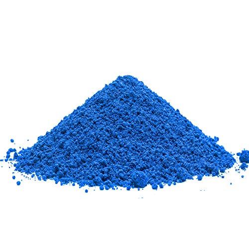 @tec Pigmentpulver, Eisenoxid, Oxidfarbe - 1kg Farbpigmente, Trockenfarbe für Beton, Epoxidharz, Wand-Farbe: blau/blue