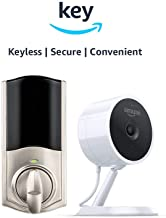 Kwikset Convert Smart Lock Conversion Kit + Amazon Cloud Cam   Key Smart Lock Kit (Nickel)