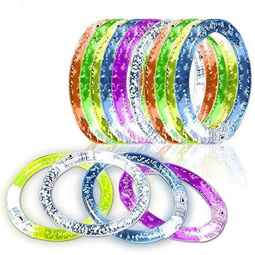 iwobi LED Armband Set, LED Armreif Leuchtarmbänder 6 Farbe, 12 Stück