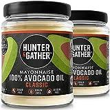 Hunter & Gather 2 X 250g (Pack Doble) Mayonesa De Aguacate   Hecha Con Aceite De Aguacate Puro Y Yema De Huevos De Pollos De Granja Británicos, Sin Azúcar Y Gluten   Paleo, Cetogénica