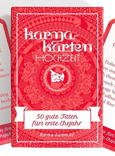 Chaoskarten Karmakarten Hochzeit – 50 Gute Taten fürs erste Ehejahr–Hochzeitsgutscheine Hochzeitsspiel