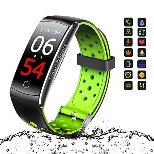 Fitness Tracker, Vivicool Orologio Fitness Activity Tracker Cardio Impermeabile IP68 Bluetooth 4.0 Smartband Bracciale Braccialetto Donna Uomo Fitness Sport Watch per iOS Android Smartphones, Verde