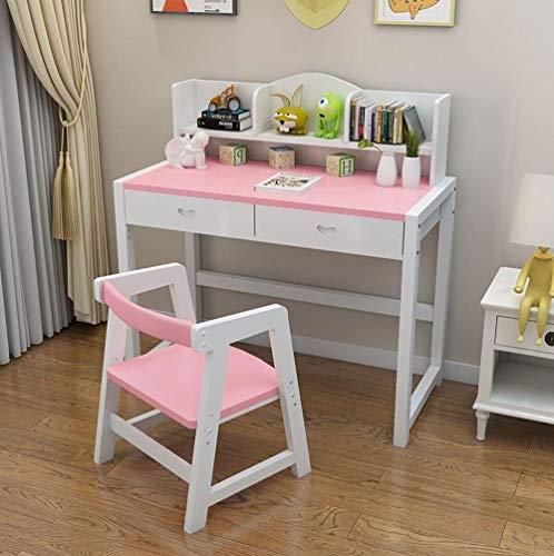 ZOUJUN Multifunktions-Kinder Study Stuhl und Tisch-Set Lifted Schreibtisch Schutz der Augen Adjustable Table Richtige Sitzhaltung Stuhl Massivholz-Schreibtisch for Jungen und Mädchen (Größe: 80x50x75c