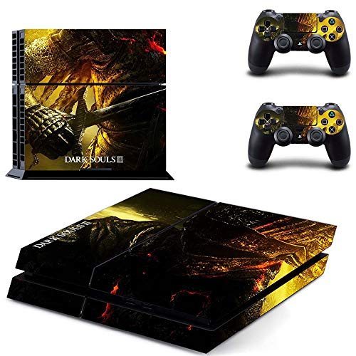 Playstation 4 Skin Set - Dark Souls 3 HD Printing Vinyl Skin Cover Protective for PS4 Console and 2 PS4 Controller by Mr Wonderful Skin