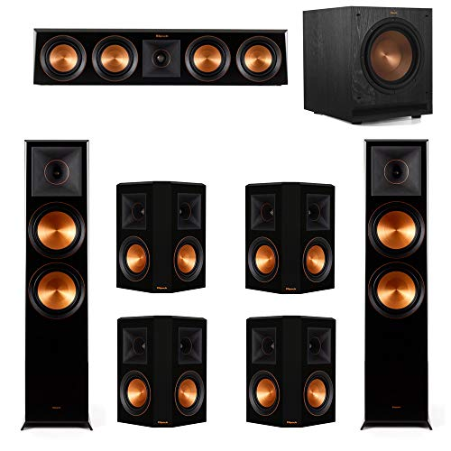 Great Deal! Klipsch 7.1.2 Piano Black System-2 RP-8060FA,1 RP-404C,4 RP-502S,1 SPL-100