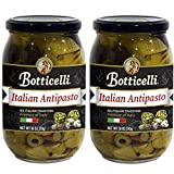 Botticelli Premium Italian Antipasto in a Jar (Pack of 2) - Authentic Italian Antipasto with Artichoke, Olives & Mushroom - For Antipasto Appetizer, Antipasto Salad & Antipasto Plates - 18oz
