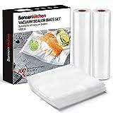 Bonsenkitchen Kit de Bolsas de Vacio Gofradas de Alimentos (
