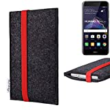 flat.design vegane Handy Tasche Coimbra für Huawei P8 Lite 2017 Dual SIM - Schutz Hülle Tasche Filz vegan fair rot