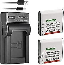 Kastar Battery X2 & Slim USB Charger for Kodak LB-06 LB06 LB-060 LB060 PixPro AZ251 AZ365 AZ421 AZ525, Casio Exilim Zoom EX-Z650, HP V5060 V5061 V556 V556AU V5560 V5560U V5560AU, BENQ Dli-202 DLi202