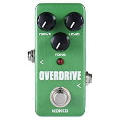 Delivers that warm, natural tube overdrive sound By rotating the knobs you can boost the guitar amp for colorful tone or overdrive itself for unique pedal sound True bypass hardware switching Led indicator shows the status of effect.Powered by AC ada...