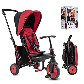 smarTrike Toddler Tricycle Stroller Compact Bike Stroller for Kids Easy Push Tricycle Kids Stroller Doubles as a Toddler Bike Baby Tricycle for 1 2 3 Years Old Adjusts and Folds  Red STR3